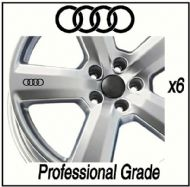 AUDI CAR WHEEL DECALS